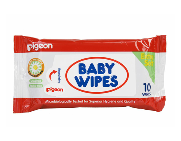 Pigeon BABY WIPES 10 SHEETS