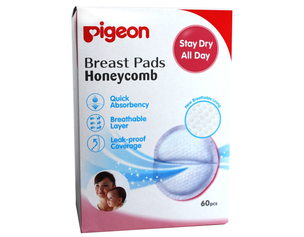 Pigeon BREAST PADS HONEYCOMB 60PCS