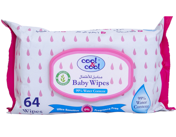 Cool & Cool BABY WIPES (64 + 8)\'S