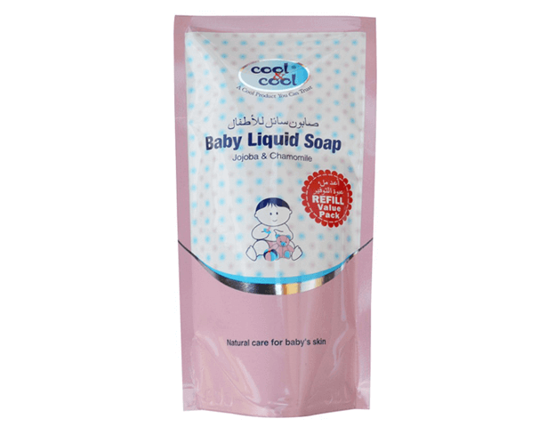 Cool & Cool BABY LIQUID SOAP JOJOBA,CHAMOMILE 250 ML (REFILL POUCH)