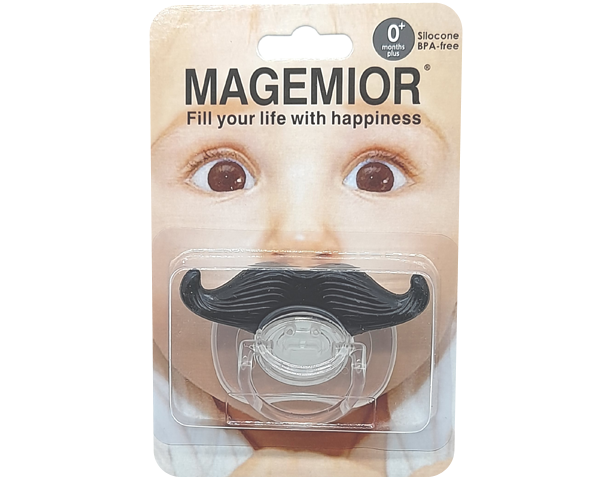 Baby Mustache Pacifier 0M+