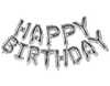 Happy Birthday Letter Foil Balloons