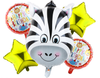 Foil Balloons Zoo Theme 5Pcs