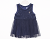 Baby Girl Fancy Frock - Navy Blue