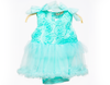 Baby Girl Fancy Romper - Cyan