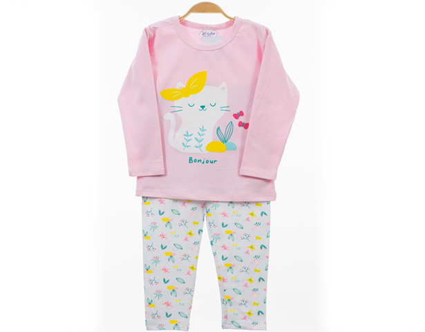 Baby Girl Night Suit Bonjour