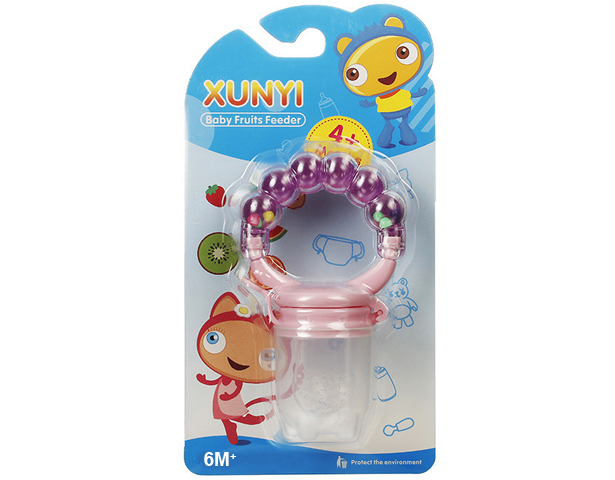 Xunyi Baby Fruits Feeder Pacifier Purple (L) 6M+