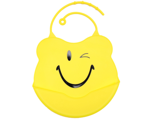 Baby Meal Pocket Silicone Bib Yellow