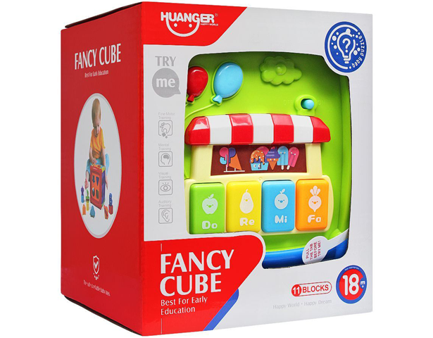 Huanger Fancy Cube With Light & Music 11 Blocks