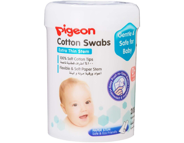 Pigeon Cotton Swabs Thin 200Pcs