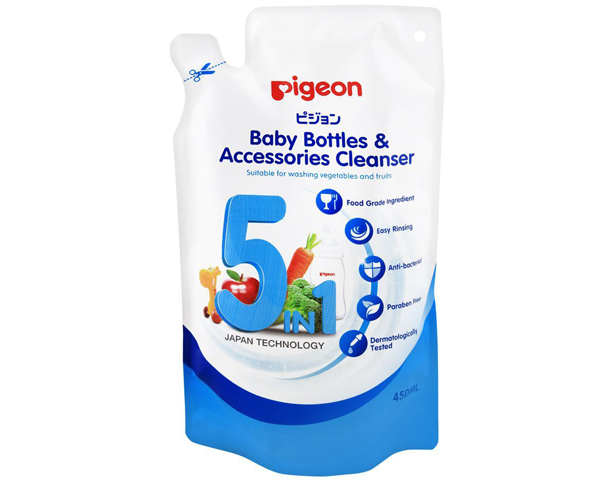 Pigeon 5-In-1 Baby Bottle & Accessories Cleanser