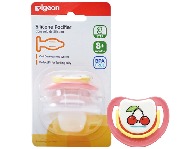 Pigeon Baby Silicone Pacifier Step 3 Pink