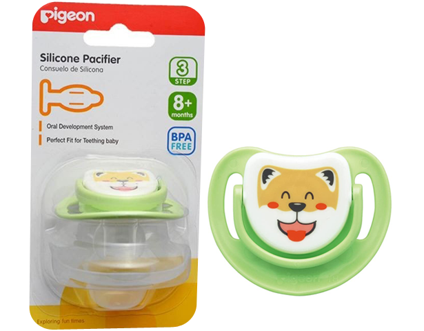 Pigeon Baby Silicone Pacifier Step 3 Green