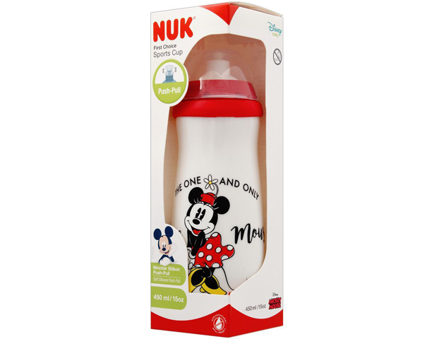 Nuk First Choice Micky Mouse Soft Silicone Push-Pull Sports Cup