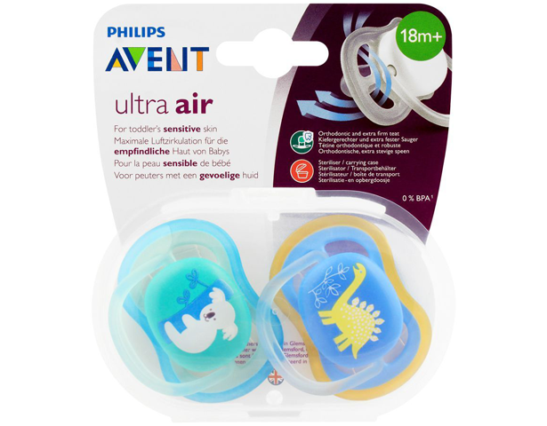 Avent Ultra Air Sensitive Skin Soothers 18M+