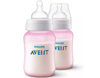 Avent Classic Plus PP Bottle 260ml PK2 (PINK)