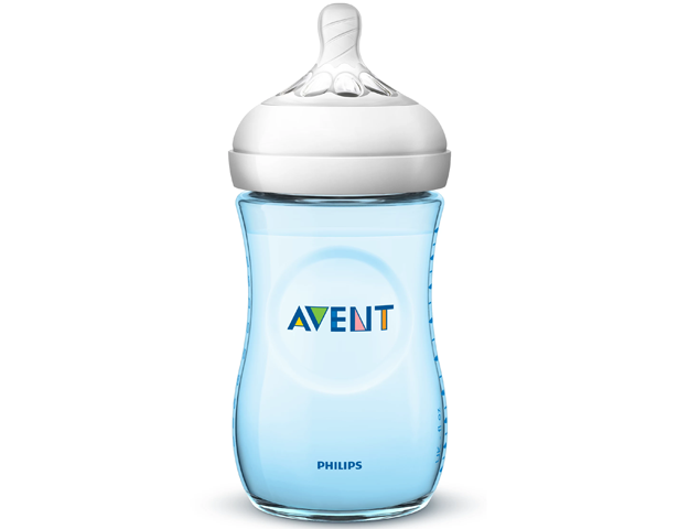 Avent Natural 260ml Feeding Bottle -Blue