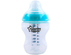 Tommee Tippee CTN Tinted Feeding Bottle 260ml Blue Ring