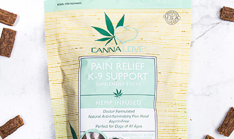 CannaLove Pain Relief K-9 Support Supplements