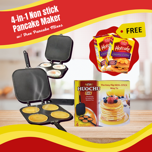 4-in-1 Pancake Maker with FREE Pancake Mix and FREE SHIPPING NATIONWIDE