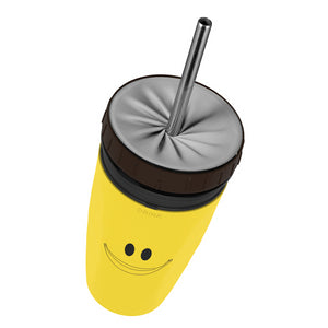 Leak-proof Travel Mug with Unique Twist lid (FREE BPA Free Reusable Straw)