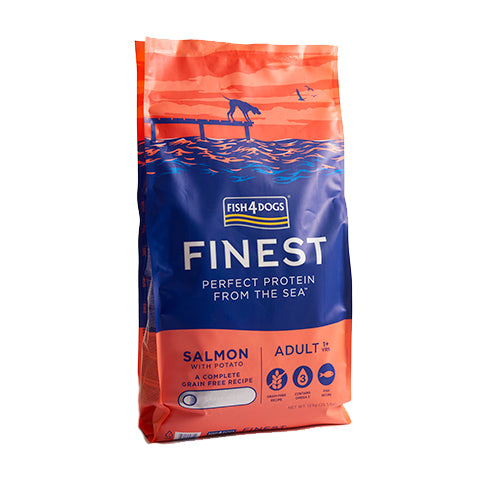 Finest Fish4Dogs Salmon Complete - Croqueta Regular