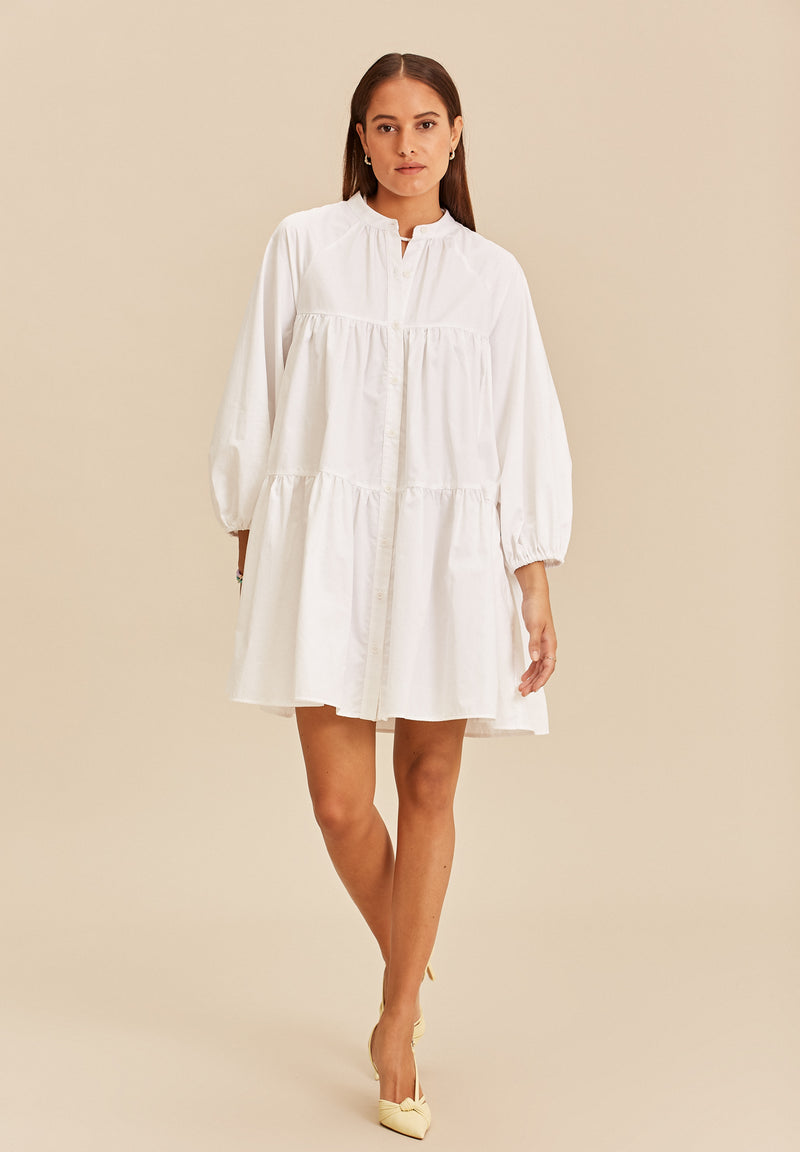 Short dress Alicante white