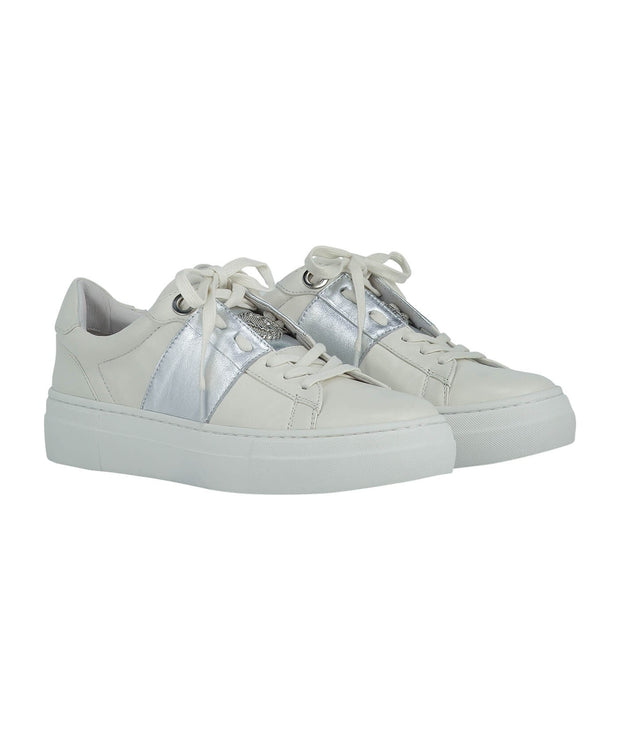 Leslie sneakers off white/ silver