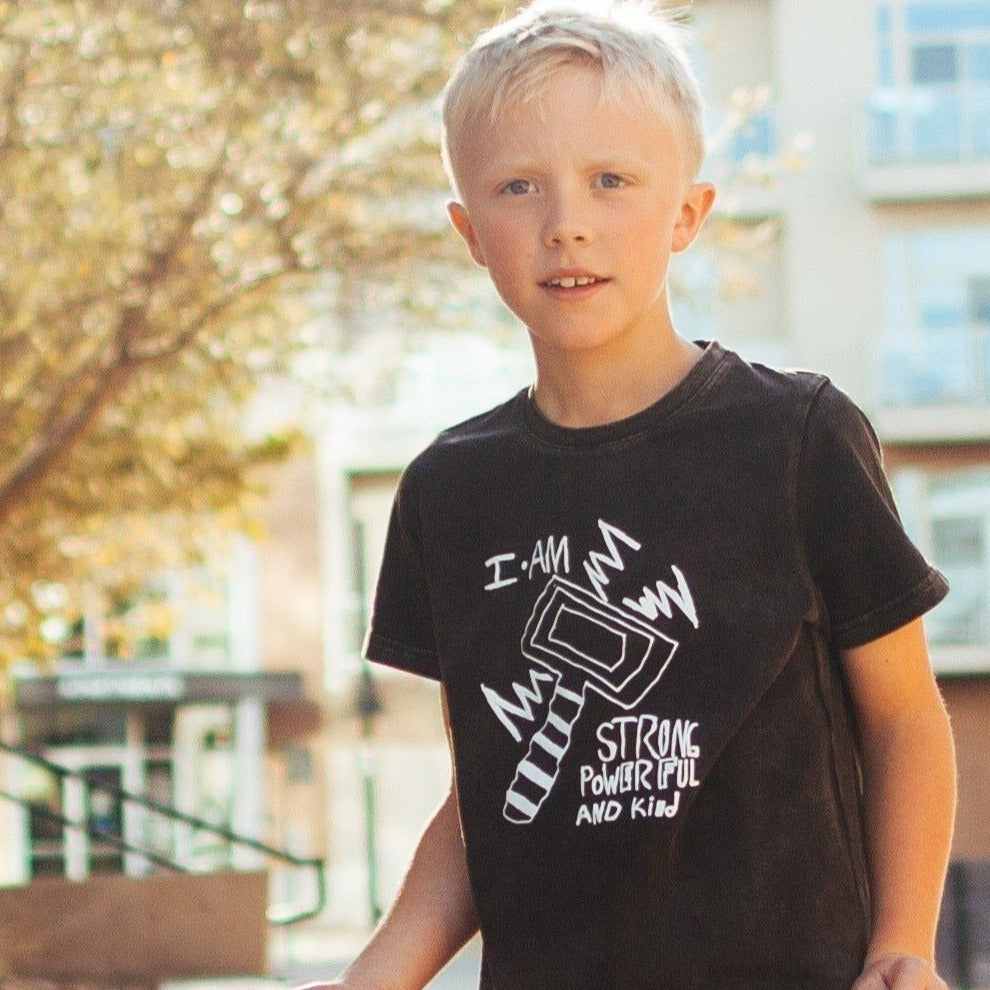 STRONG, POWERFUL & KIND ~ Boy's T-Shirt