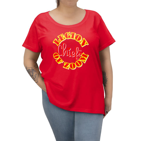Chiefs inspired Legion of Zoom Football Women's Curvy Tee