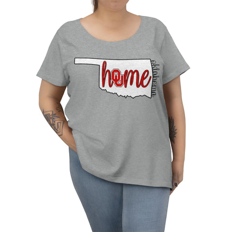 Home Oklahoma University Inspired Women's Curvy Tee