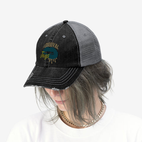 Jaguars Inspired Dripping Lips Unisex Trucker Hat Adjustable
