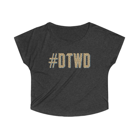 Jaguars Inspired #DTWD Geo-tag Women's Tri-Blend Dolman