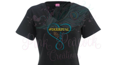 #Duuuval Infinity heart love Jacksonville Jaguars inspired Tee shirt dress