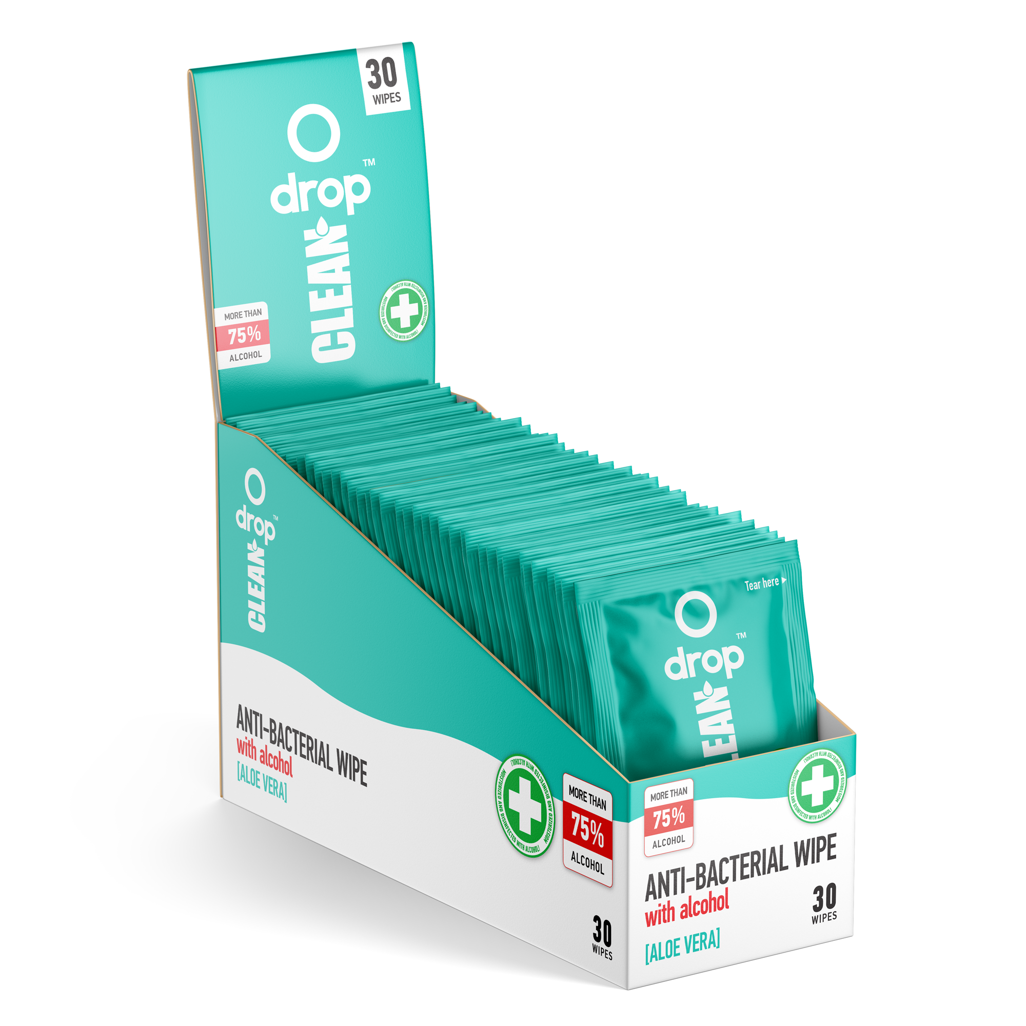 DROP CLEAN Anti Bacterial Wipes - DropCBD