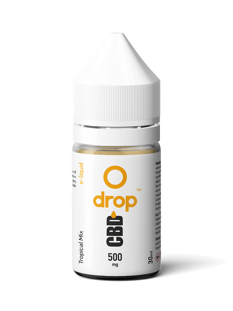 CBD Vape E-Liquid with Tropical Mix Flavour 30ml - dropcbd