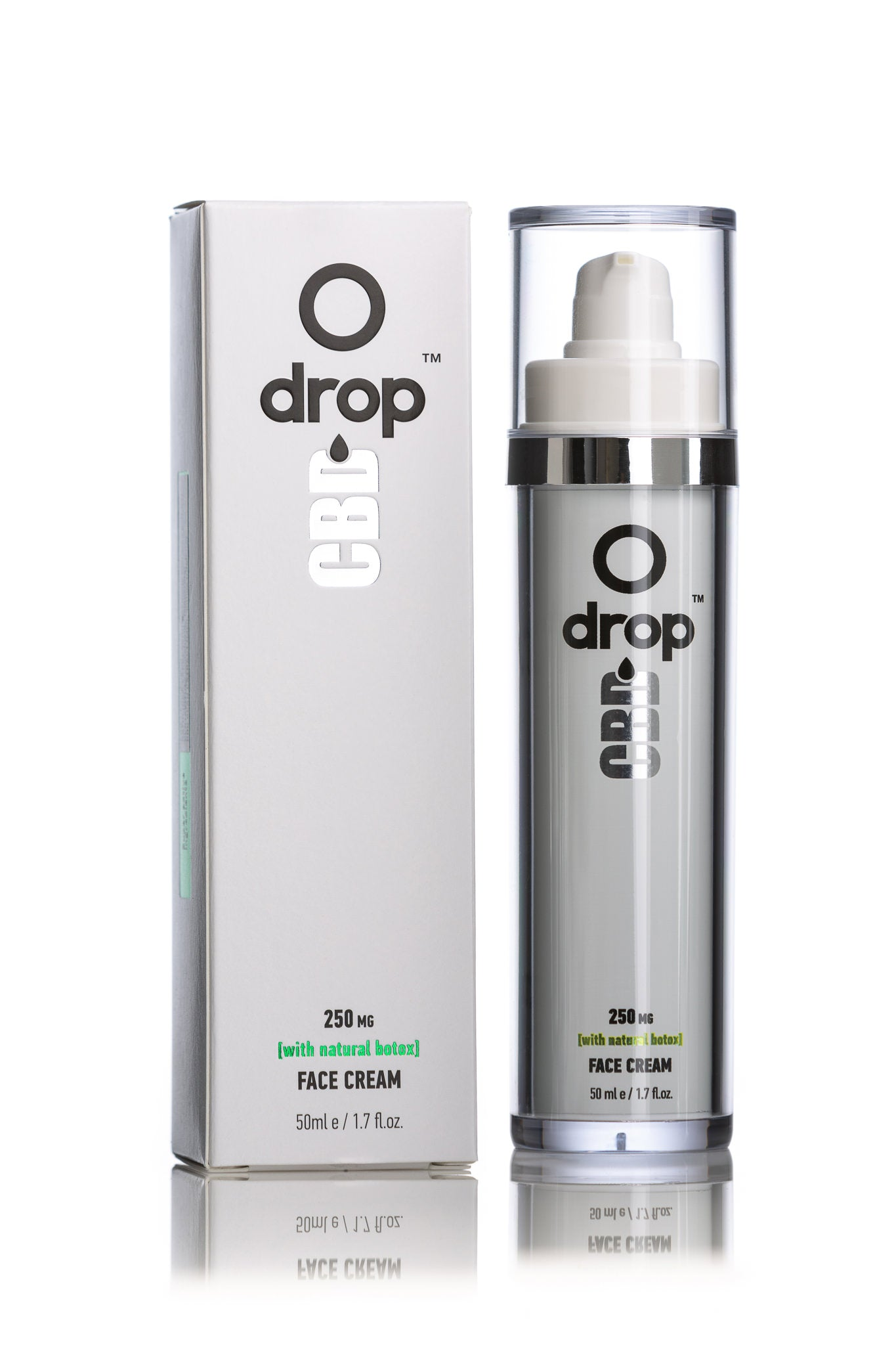 CBD Face cream 250mg 50ml (Airless packing) - DropCBD