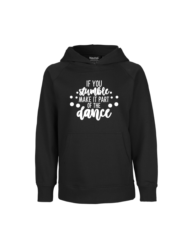'If you stumble, make it part of the dance' hoodie voor kinderen
