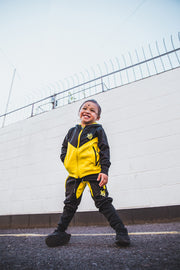 Tech Panel Tracksuit Black & Yellow