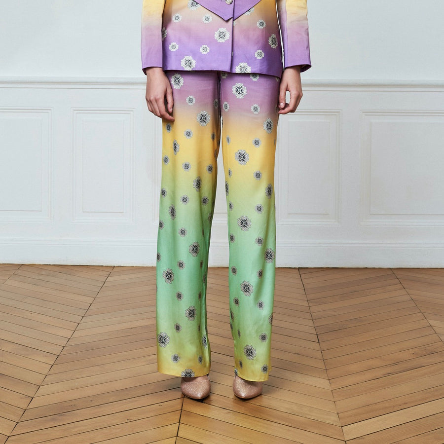 Graphic Printed Tailored Trousers