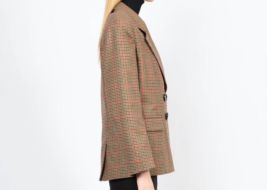 Checked Woolen Tailored Blazer