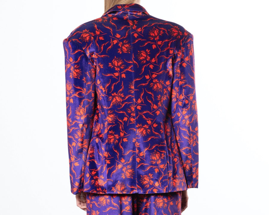Floral Print Tailored Blazer