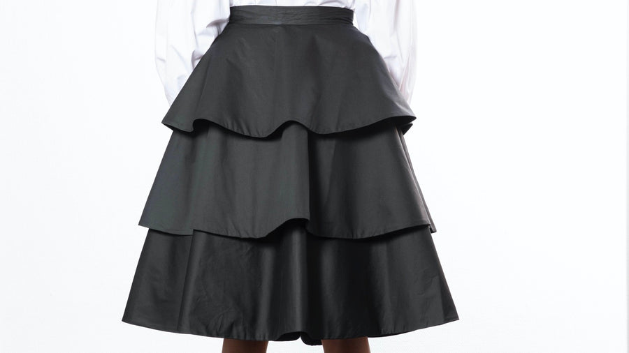 Layered Ruffled Skirt