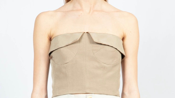 Panelled Bustier Top
