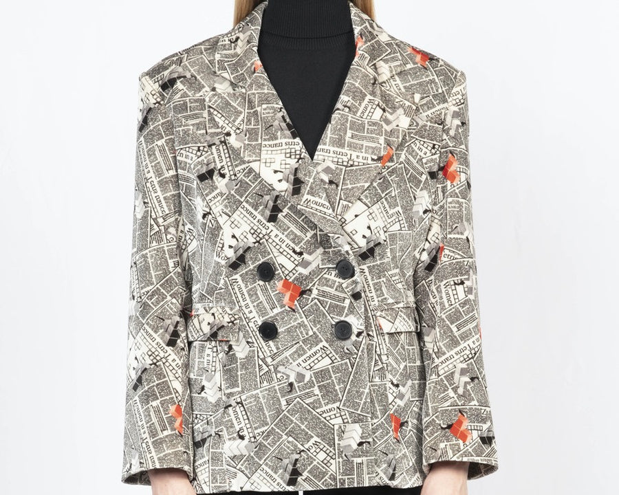 Printed Tailored Blazer