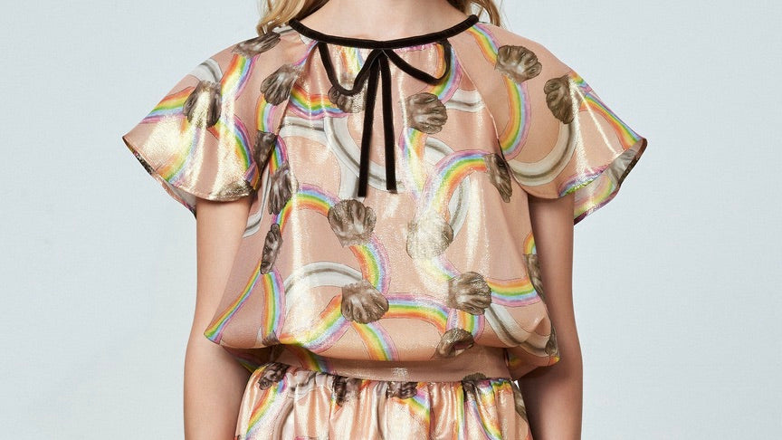 Rainbow Printed Blouse