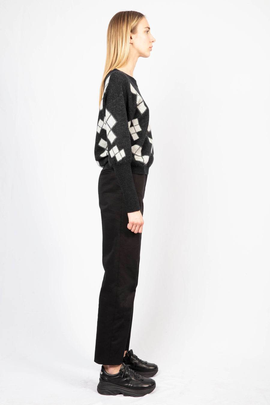 Oversize Jumper/High waisted tailored pants