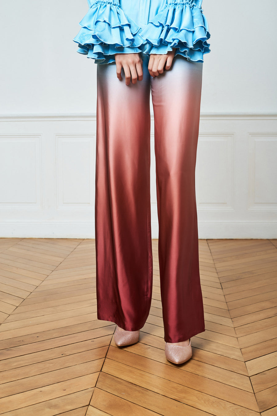 High Waist Gradient Trousers