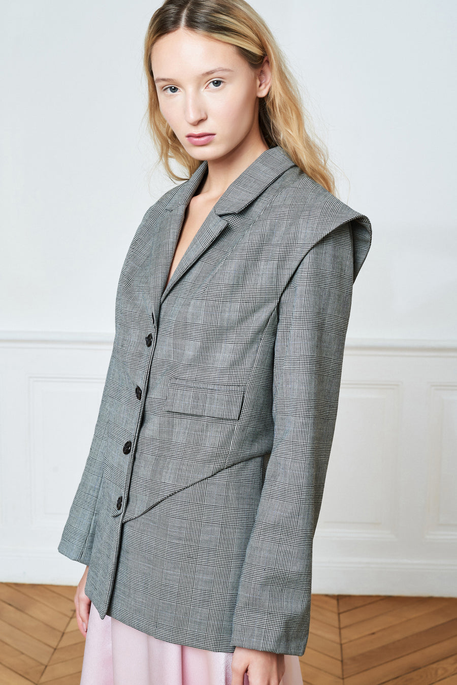 Double layered tailored blazer