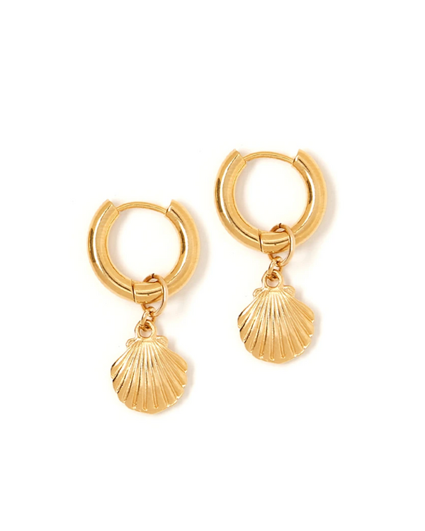 TESS + TRICIA ESTELLE CHARM SHELL EARRINGS